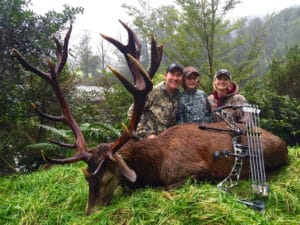 Family With Large Elk